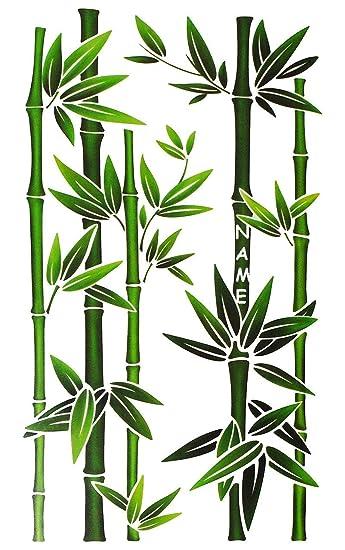 Fensterbild / Wandtattoo   Bambus Strauch   Incl. Name   Fensterbilder /  Fenstersticker   Selbstklebend
