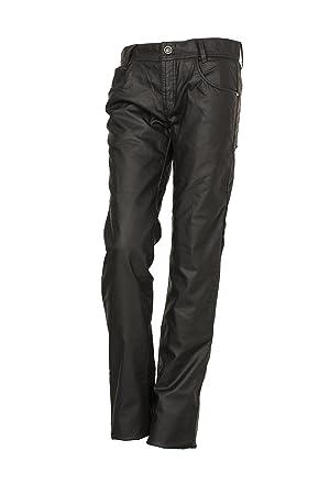 Esquad Pantalon De Vaquero Para Moto, 28, Black Wax