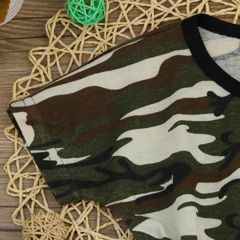 Lavany Toddler Newborn Baby Infant Boy Camouflage Romper Jumpsuit Outfits Clothes