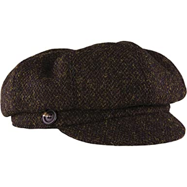 915a5420 Amazon.com: Stormy Kromer The Gatsby Cap Harris Tweed Newsboy Hat: Clothing