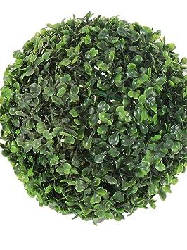 Fourwalls Artificial Topiary (27cm, Green) Artificial Flora at amazon