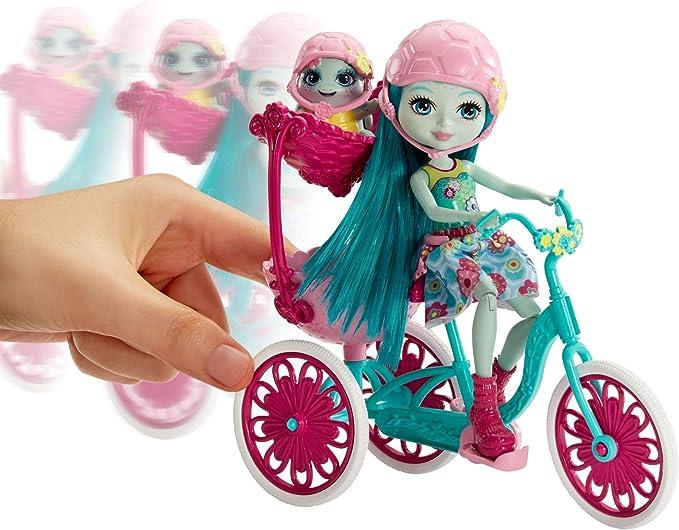 jouet enfant Enchantimals Coffret Sortie /à V/élo FCC65 Mini-poup/ée Taylee Tortue et Figurine Animale Bounder avec v/éhicule et accessoires