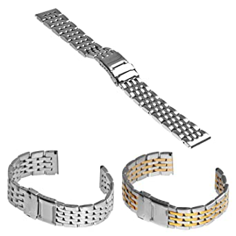 7eef7e66376 StrapsCo Thick Stainless Steel Watch Band for BREITLING Size 22mm ...