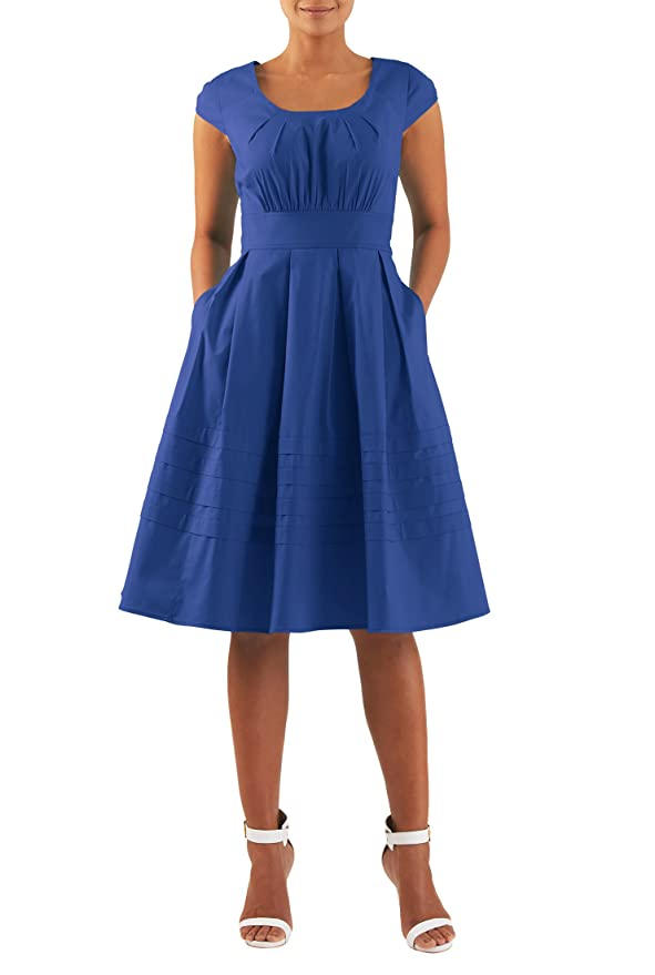 Plus Size Retro Dresses eShakti 1940s Chelsea dress $52.95 AT vintagedancer.com