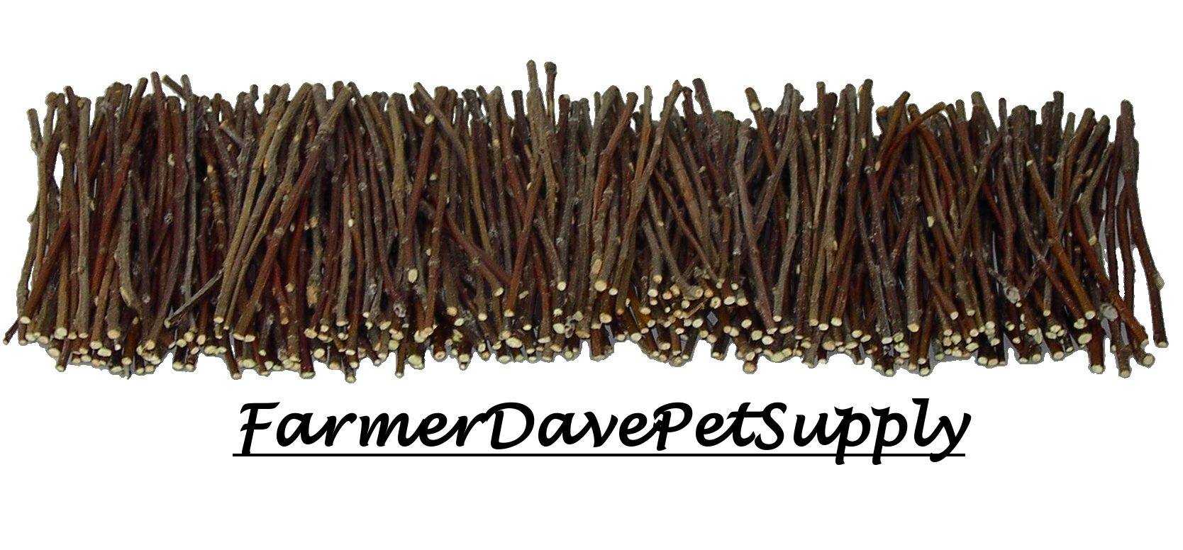 FarmerDavePetSupply 500 Apple Skinny Twig Chew Jumbo Pack for Rabbits, Guinea Pigs, Chinchillas and Other Small Animals by FarmerDavePetSupply