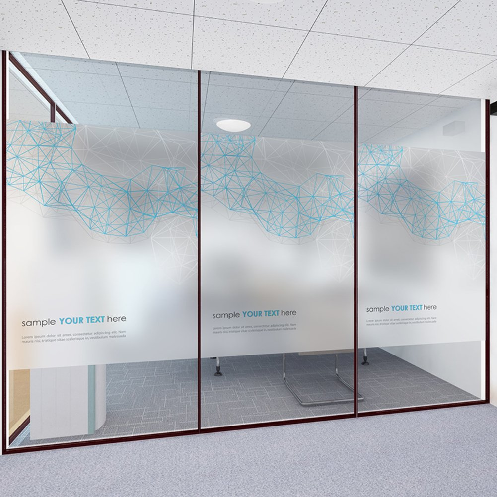 YQ WHJB No glue Static decorative films,Frosted privacy window film,Glass Office Sun protection Anti-uv Reusable Window decal Sticker-A 80x120cm(31x47inch)