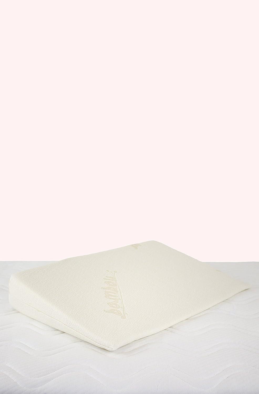 Kadolis Plan Incliné Bambou Déhoussable pour Lit 60 x 120 cm Blanc MCE03
