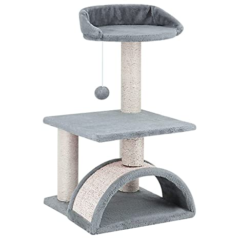 Amazon.com: ScratchMe Tree Condo con poste rascador, torre ...
