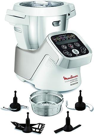 Moulinex Cuisine Companion HF800A13 Robot cocina con 6 programas automáticos, 4,5 L de capacidad 6 personas, 12 velocidades y temperatura de 30º a 130º, función de mantenimiento de la calor 45 min: 498.79: Amazon.es: Hogar
