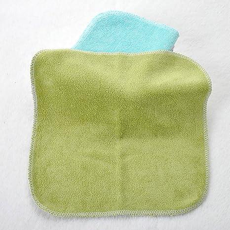 MagiDeal 8 Unidad Toalla de Lavado Toallita de Bebé Secar Rápido Sudor de Alimentación Pequeña Cuadrada 20 * 20cm: Amazon.es: Hogar