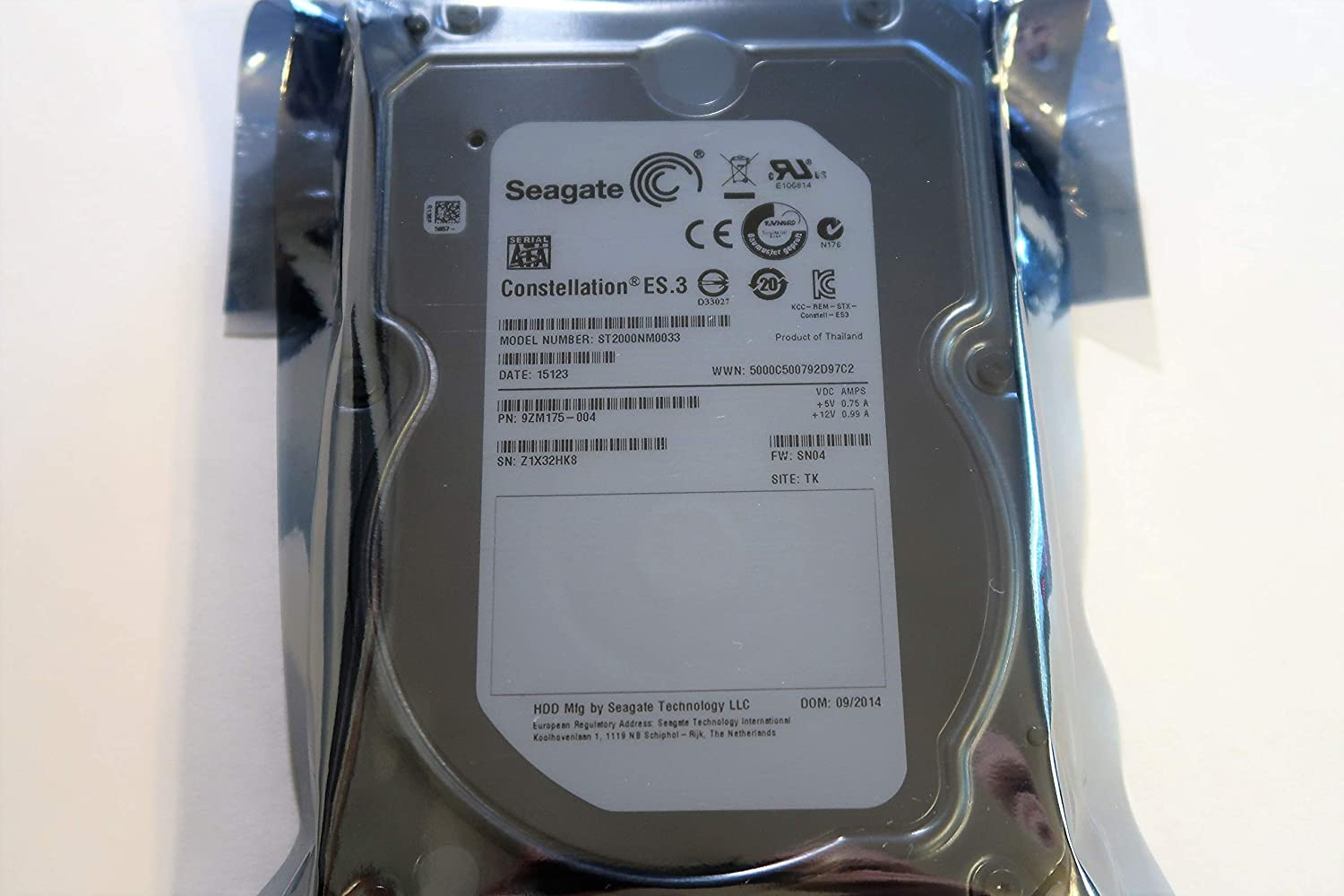 SEAGATE 9ZM175-003 Details about Seagate ES.3 ST2000NM0033 2TB 128MB SATA 6.0GB//S 3.5 Renewed