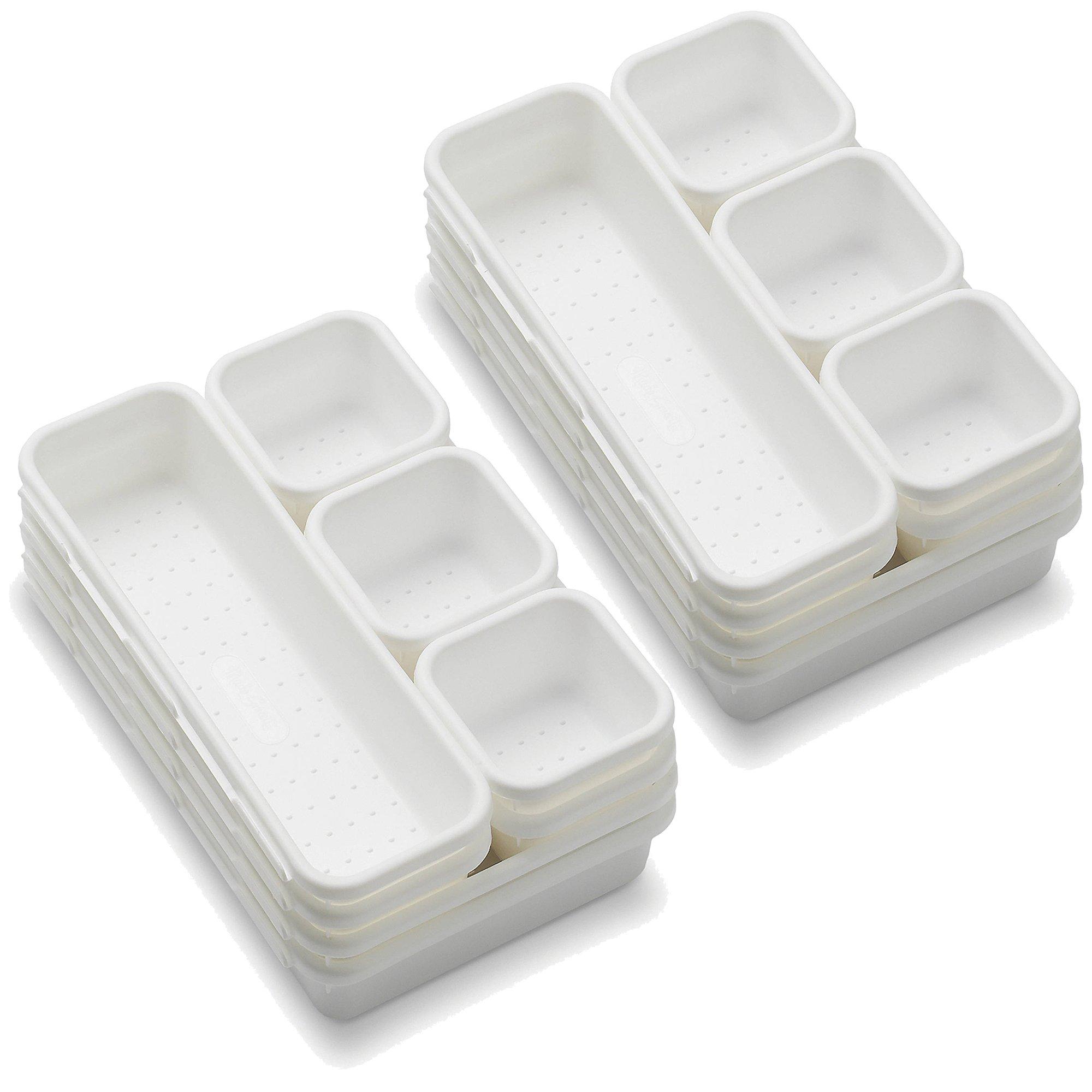 Madesmart 8 Piece Interlocking Bin Pack - White (2 Packs)