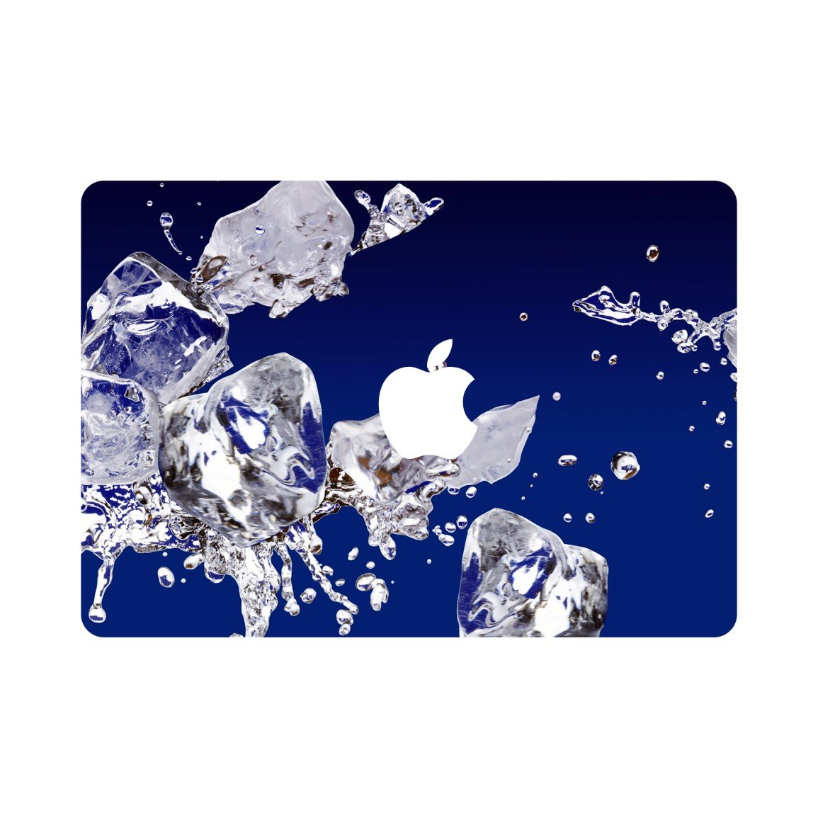 Fit for New MacBook Pro 15 inch A1707//A1990 with Retina Display 2016 Release fits Touch Bar /& Touch ID Ver Creative Ice Block Special Design Removable Vinyl Front Top Decal A3