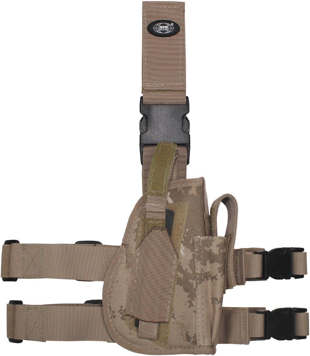MFH Pistolet Leg Holster 30725 Fixation de Jambe et de Ceinture Droite