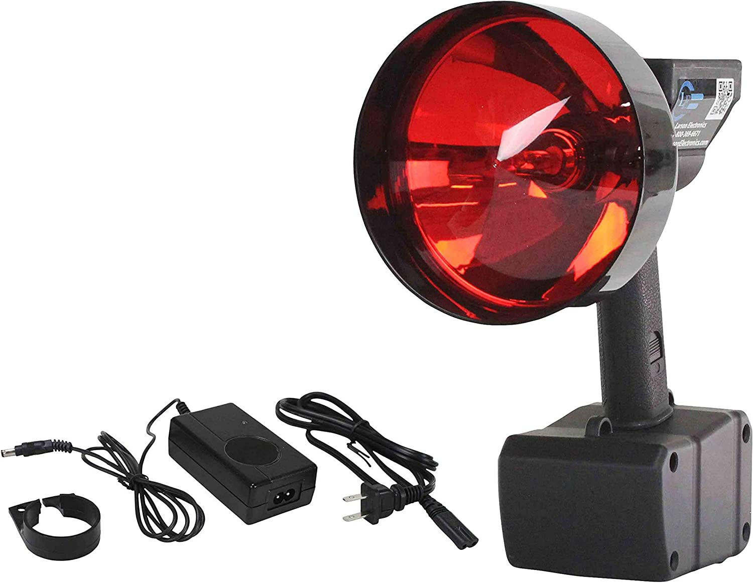 21 Cord w//Ring Terminals 15 Million Candlepower 12V HID Handheld Spotlight -12V-21 Ring Terms