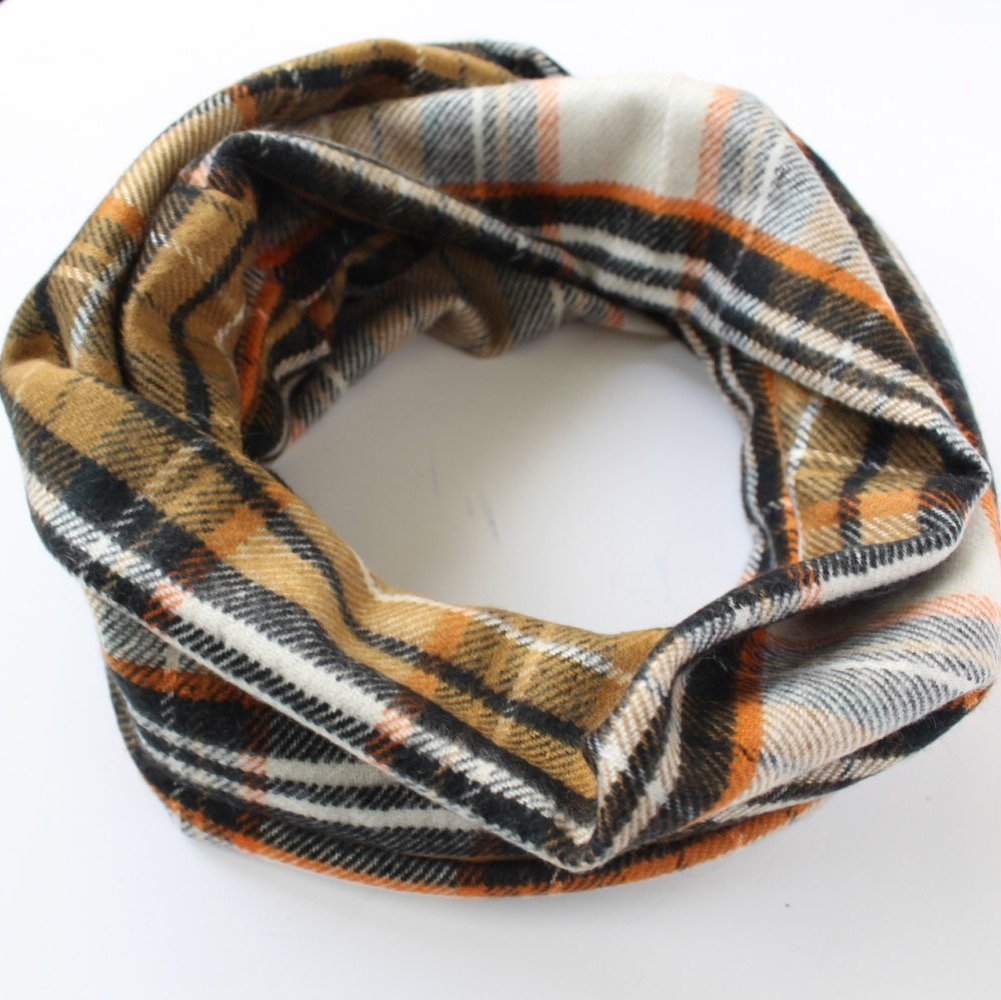 Harvest Checkered Plaid Flannel Baby Toddler Infinity Scarf