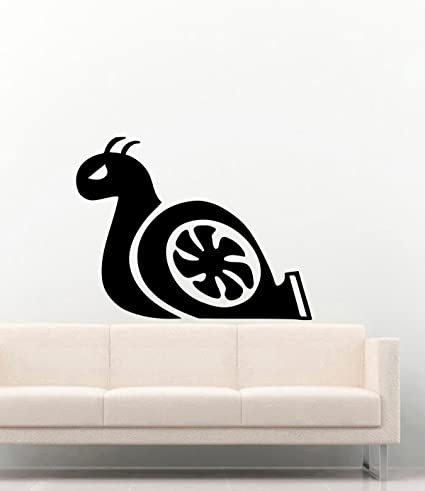 Turbo Snail Vinyl Wall Decals Boosted Vinyl Decors Stickers Murals MK6227