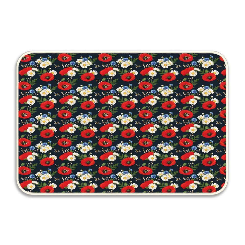 """Shih Tzu Dog With Heart Bathroom Rug Non-Slip Floor Door Mat Flannel 16x24/"""""""