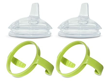 Sippy Spout Nipples with Bottle Handles for Comotomo Baby Bottle