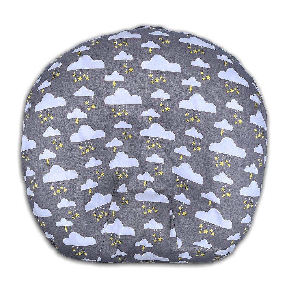 Newborn Lounger Cover Removable Cover 100% Soft Cotton Twinkle Stars Grey by IBraFashion