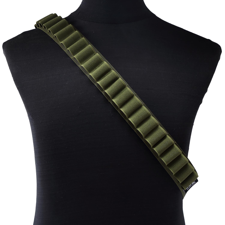 niceEshop(TM) Escopeta de Caza al Aire Libre con una Bolso Cinturón Diagonal, Negro