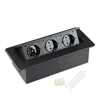Versenkbare Steckdose für Küche und Büro mit Softöffnung – Ideal für ...