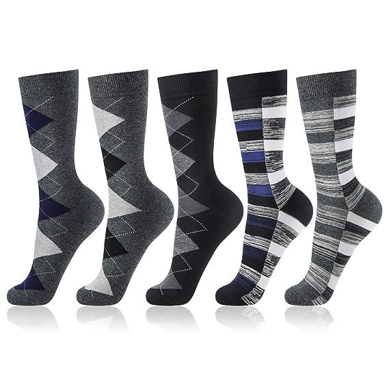 OKISS Calcetines de Hombre, Calcetines de Algodón para Hombres Gruesos de Invierno Estampados, Calcetines Transpirables, de Oficina y de Traje: Amazon.es: ...