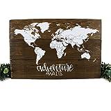 Adventure Nursery Rustic Decor World Map Adventure Awaits