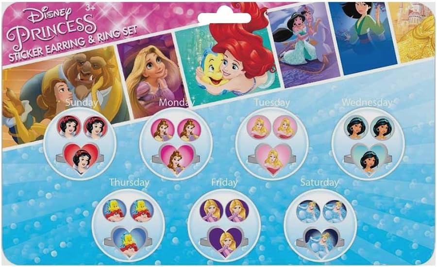 Joy Toy 63523/Disney Princess 7/adesivi set di orecchini e anelli