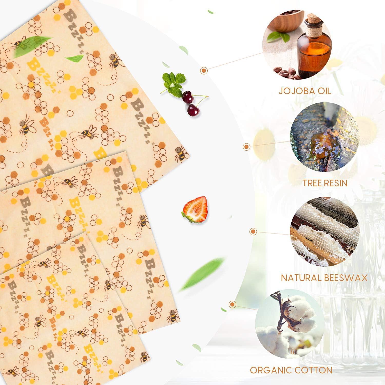 Envoltorio Cera de Abeja Reutilizable,3+3 Pack Beeswax Wraps,Envoltorios Puede Almacenar Alimento,Alternativa A Las Envolturas De Película Adhesiva para Almacenamiento De Queso,Zero Waste (Negro): Amazon.es: Hogar