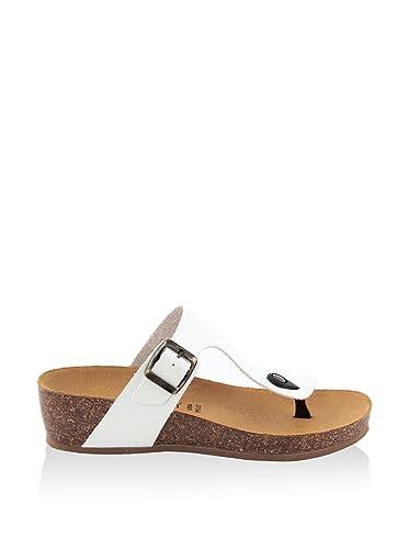 SUMMERY Damen - Sandale - Synthetik - 84_B1_VACC_Cuoio