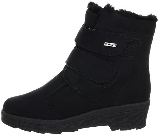 Aosta Symp. 2873 - Botas fashion de tela para mujer, color negro, talla 41 Rohde