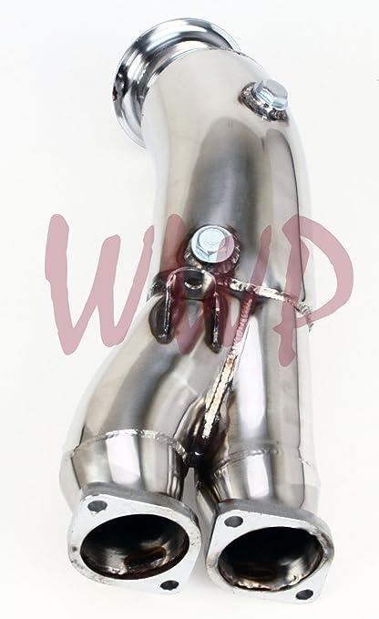 Amazon.com: Polished Stainless Steel Exhaust Turbo DownPipe For 2011-2012 BMW E82 E88 E90 E92 N55 B30 Single Turbo Engine: Automotive