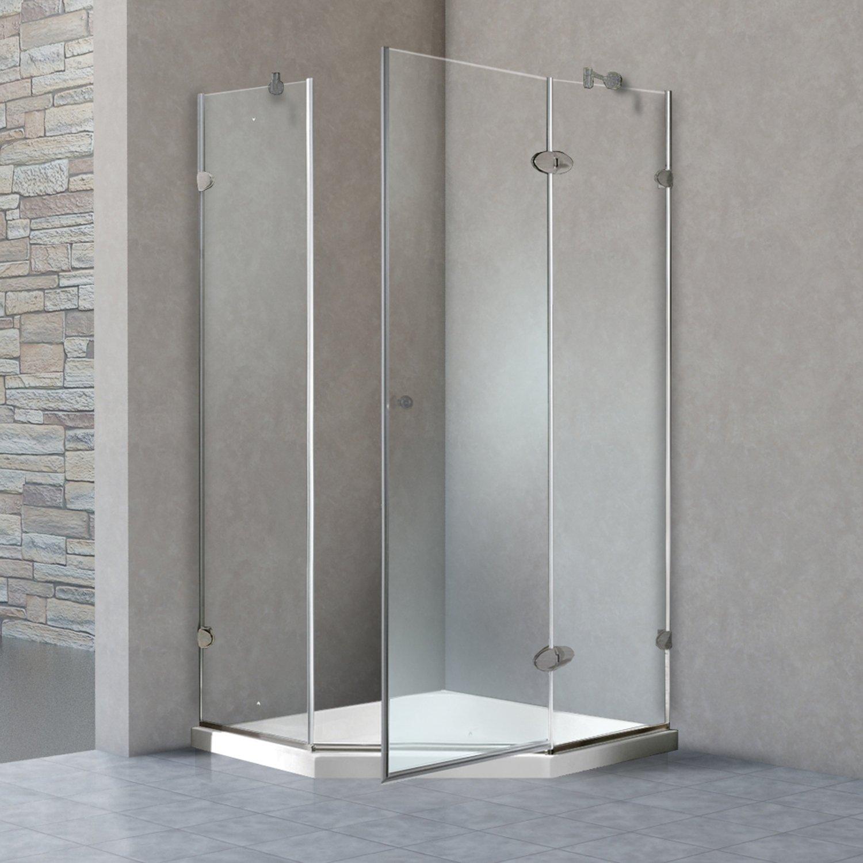 VIGO Verona 36 x 36-in. Frameless Neo-Angle Shower Enclosure with ...