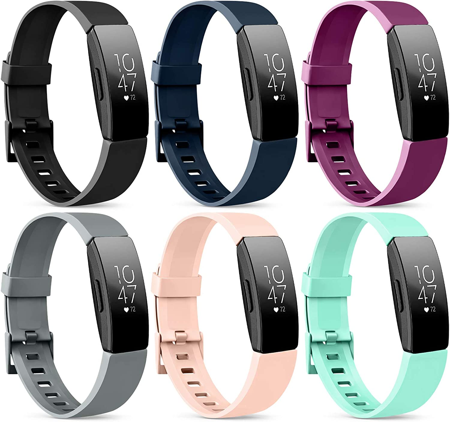 Strap Compatible for Fitbit Inspire Hr Small Women Men Silicone Gel Bands Replacement for Inspire Hr Color Feather Design
