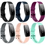[6 Pack] Silicone Bands Compatible with Fitbit Inspire HR Fitbit Inspire Fitbit Ace 2, Replacement Fitbit Inspire HR…