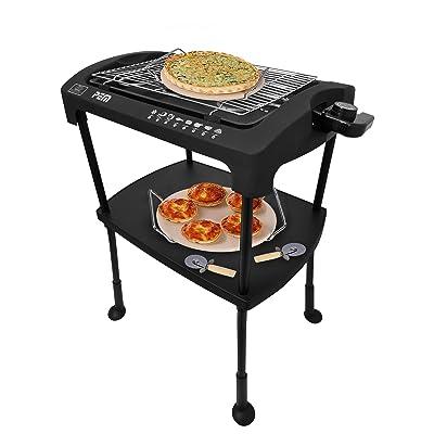 Barbecue électrique sur pieds/posable 2000W PEM PG-212 + Set pierres à pizza four/barbecue