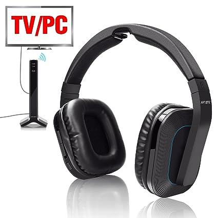 Auriculares inalámbricos para TV, 2,4 GHz, auriculares inalámbricos con cable para TV