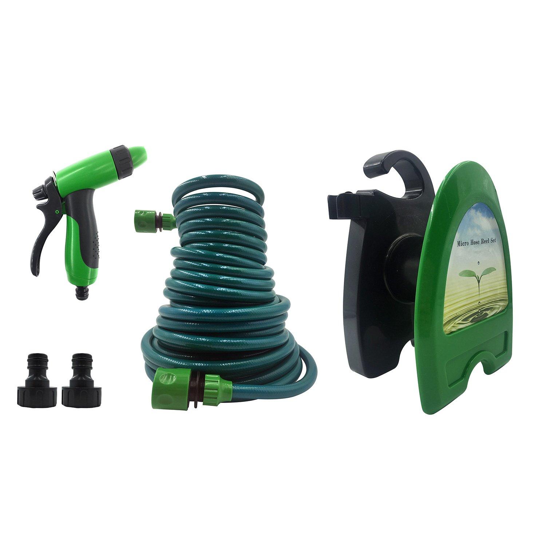 Portable Mini Water Hose Reel Garden Watering Car Washing Hose Storage Holder Kit