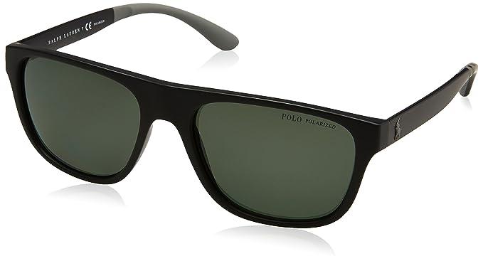 Polo Ralph Lauren 0PH4131, Gafas de Sol para Hombre, Matte Black, 57