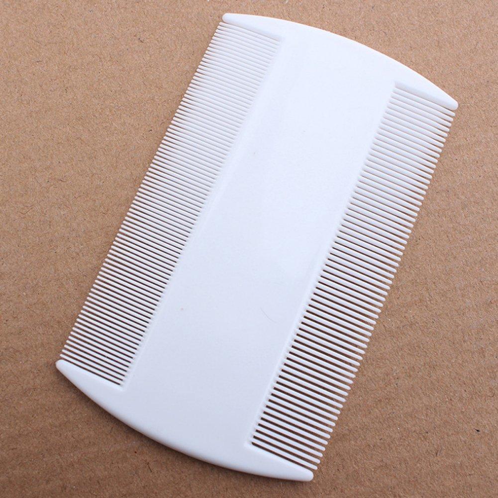 Molie White Durable Nit Combs For Head Lice Dectection Comb Kids Pet Flea