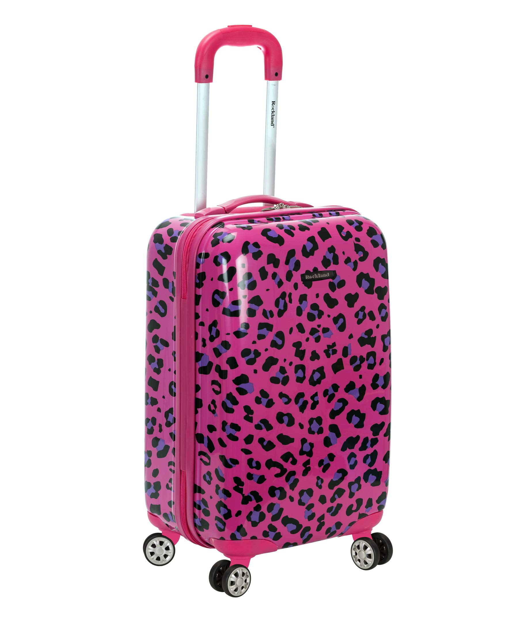 Rockland 20 Inch Carry On Skin, Magenta Leopard, One Size by Rockland