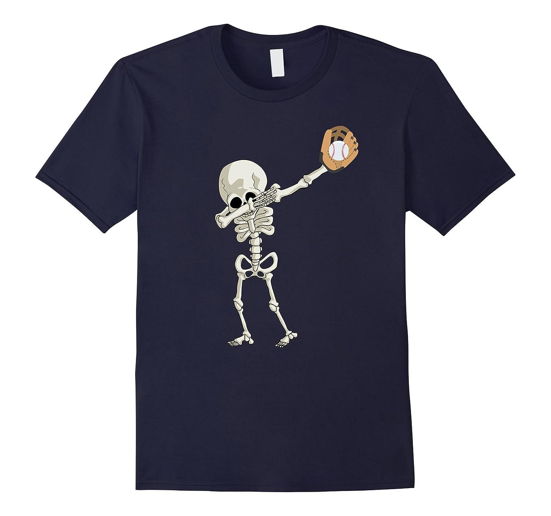 Halloween Skeleton Baseball Dabbing Shirt Skeleton Dance Tee-FL
