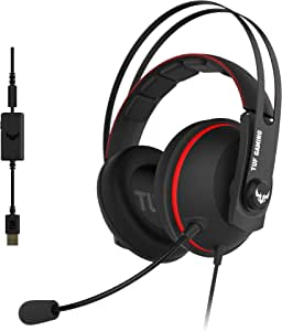 ASUS TUF Gaming H7 Red - Auriculares compatibles con PC, Mac, PS4 ...