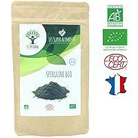 Spiruline bio   80g en poudre   Complément alimentaire   Superaliments   Energie - Sport BCAA   Bioptimal - nutrition naturelle   Conditionnée, Contrôlée et Analysée en France   Certifié par Ecocert