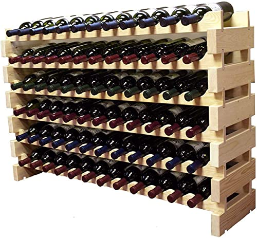 Stackable Modular Wine Rack Storage Stand Wooden Wine Holder Display Shelve