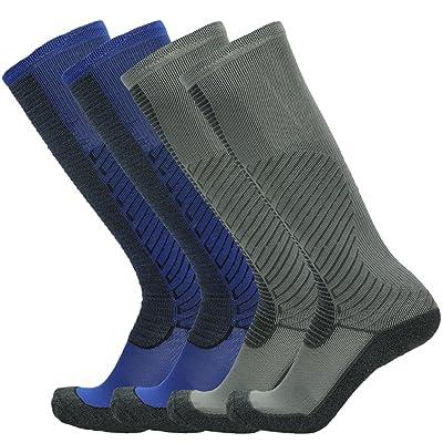 Gmark Women's Men's Football Sock Compression Socks Long Sock Football Running Sport Gym 1/3/4 Pair