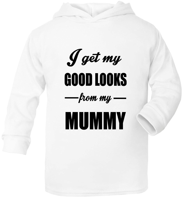 Print4u I Get Good Looks From My Mummy Mom Funny Baby Hoodie 0-2 Years