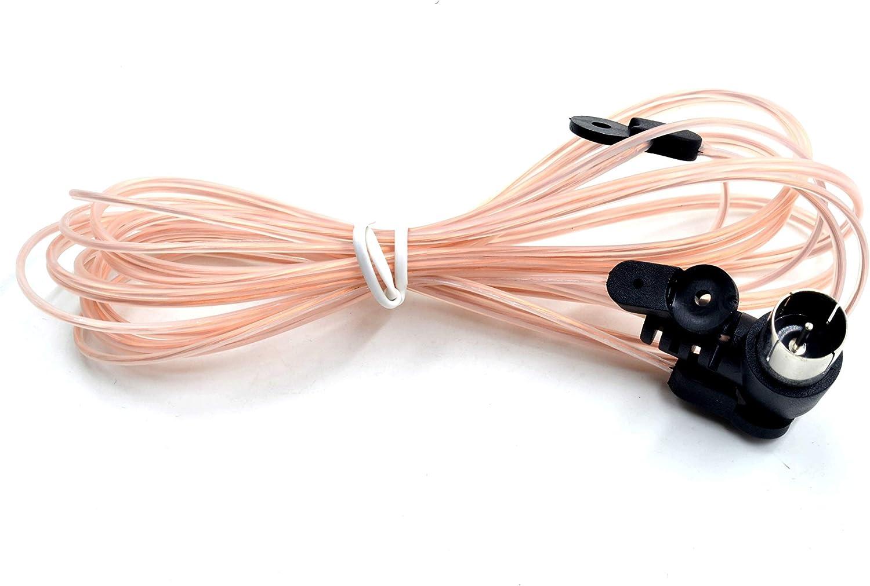 Antena FM de 75 Ohm, Tipo T y Tipo Y, Conector F Macho, Conector coaxial, Cable coaxial, Antena de Cable para Mesa, casa, estéreo, radios, Interior