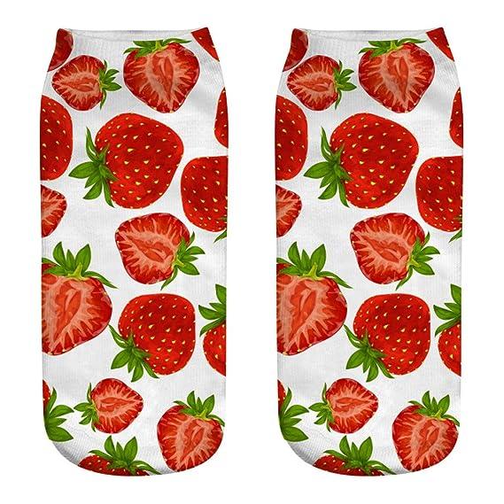 2019 Descuento Calcetines Bebe Niña Calcetines De Algodón Casuales Lindos 3D Frutas Impresión Calcetines Medios Calcetines Calcetines Deportivos: Amazon.es: ...